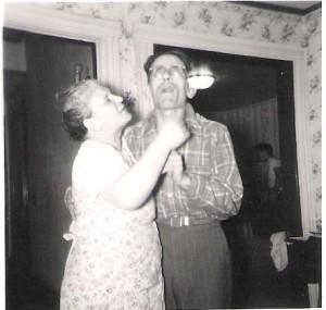 My Sicilian grandarents: MariaTuttolomondo and Rosario Meli; just being goofy!