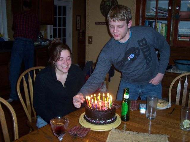 My son, Patrick, insists his sister have the correct number of candles on her cake. Remind me to put someone else in charge when my birthday rolls around. I'd hate to have the cake burn the farmette down!