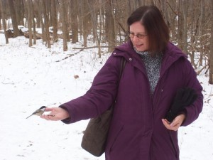 On a visit years earlier, we had taken Ruth to Mendon Ponds park where the chickadees will feed from your hand!