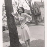 Here's Carmie (Carol's mom) in 1944; rail-thin like she's never even eaten a big plate of pasta!