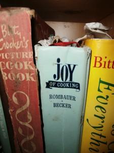Nancy's bookshelf; well-worn and well-loved books
