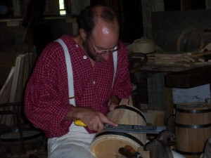 Working on his firkin....look all costumed up and everything! :)