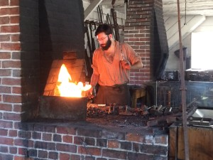 The blacksmith at the armoury