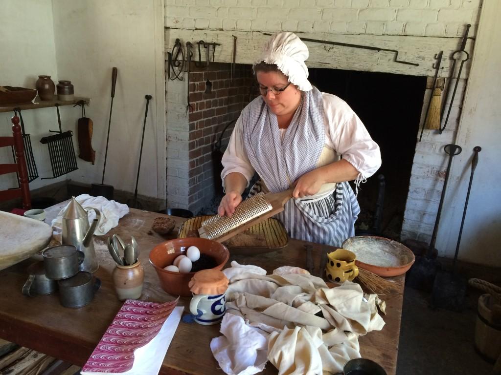 grating chocolate-rye bread