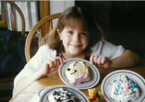 Cori with some of her early cakes!
