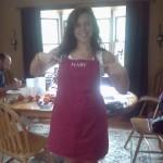 Cori donning my apron!