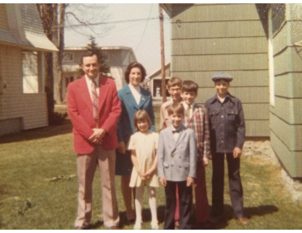 Easter Sunday, 1975.  Darrell and his siblings were probably waiting patiently this day for the coffee cake, too!