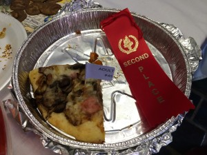 What was left after judging!  I'd have eaten it all (in one sitting!) :)