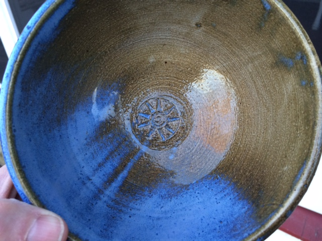 My newest pottery bowl fresh from the kiln!