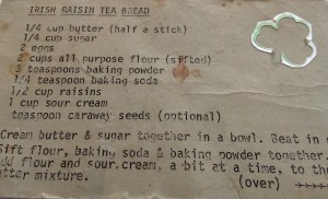 a well used family recipe