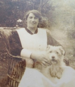 Mary with Major Austin's dog.