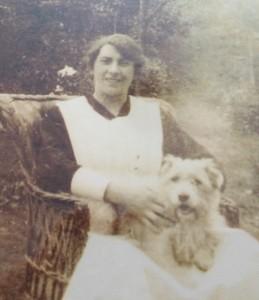 Mary with Major Austin's dog.